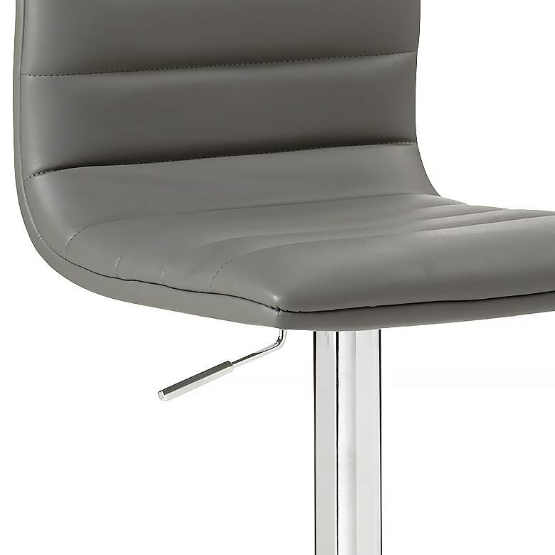 Motivo Gray Faux Leather Adjustable Swivel Barstool more views