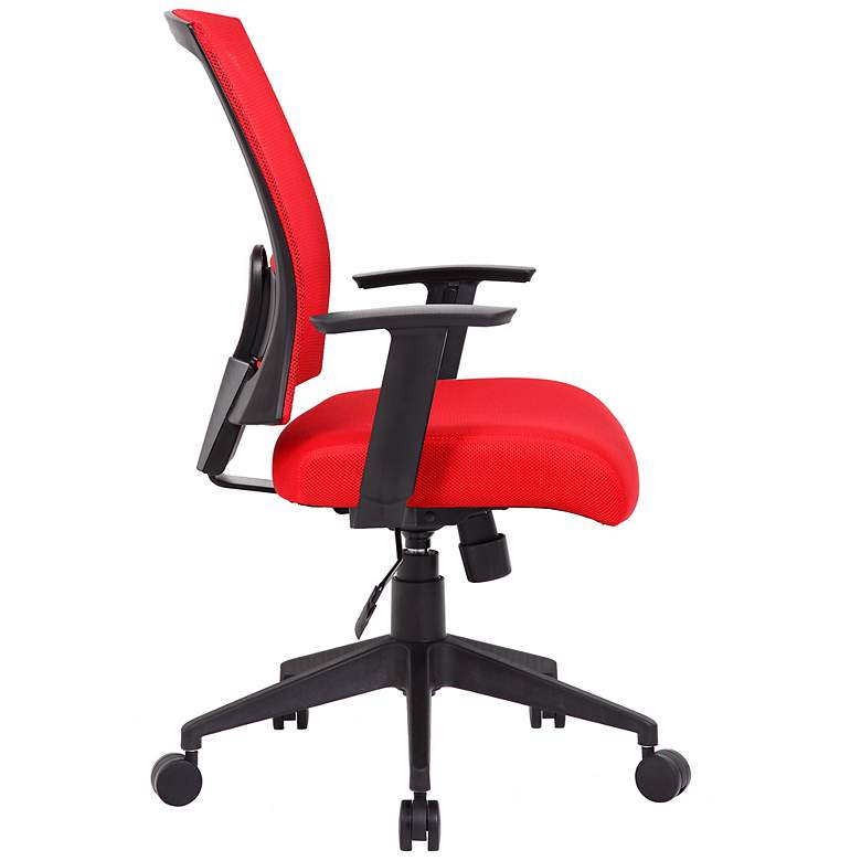 Boss Red Mesh Fabric Adjustable Task Chair more views