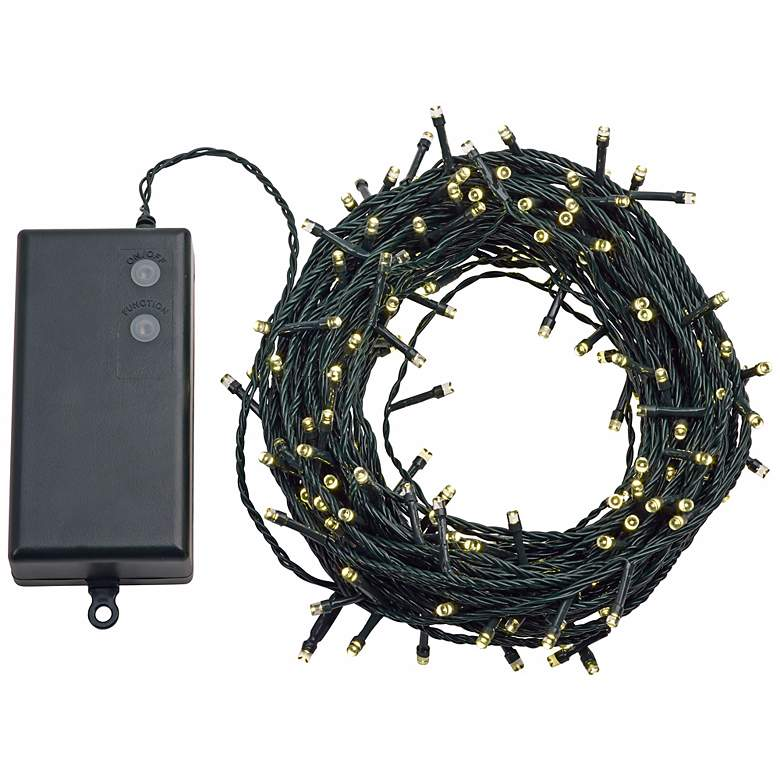 Warm White 66' Battery Operated Timer LED String Lights more views