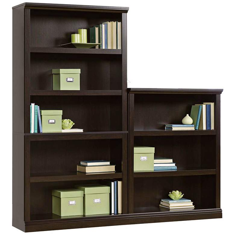"Select 69 3/4"" High 5-Shelf Split Bookcase more views"