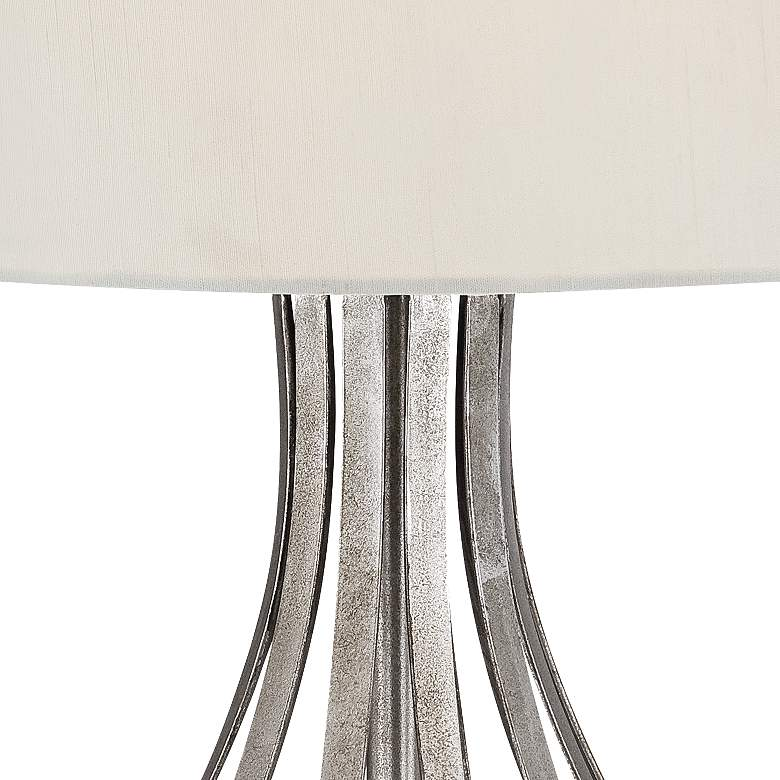 Hayden Silver Finish Open Gourd Table Lamp by Possini Euro more views