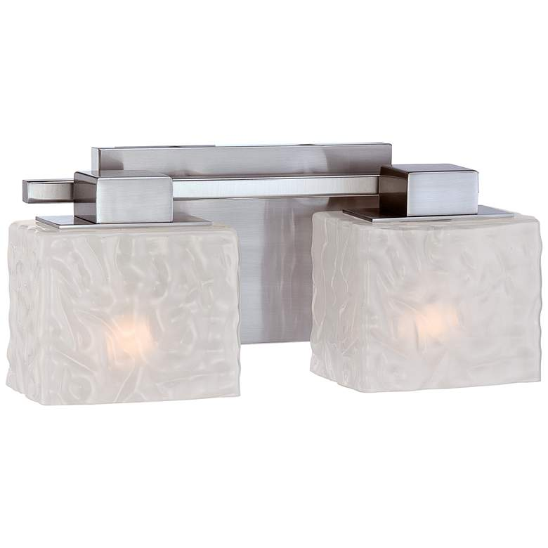 "Quoizel Melody 15"" Wide Nickel 2-Light Bath Fixture more views"