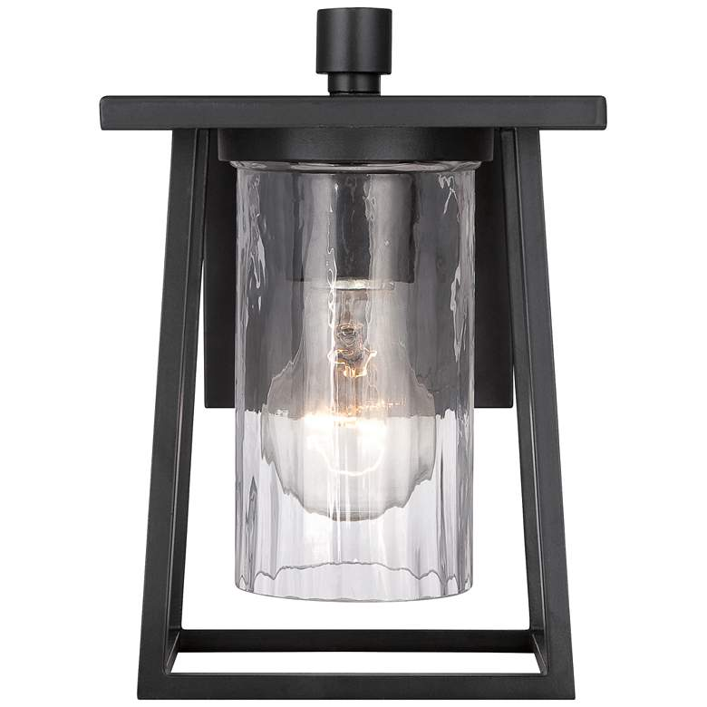 "Quoizel Lodge 9"" High Black Outdoor Wall Light more views"