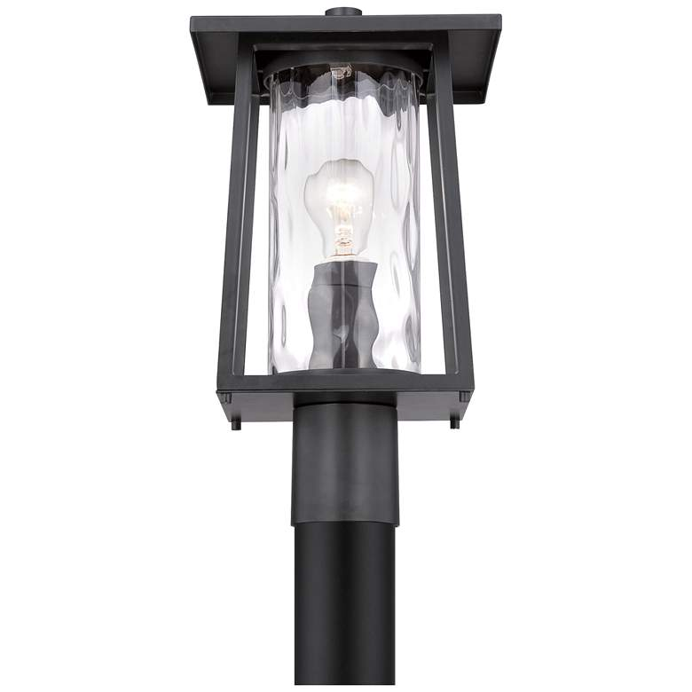 "Quoizel Lodge 16"" High Black Outdoor Post Light more views"