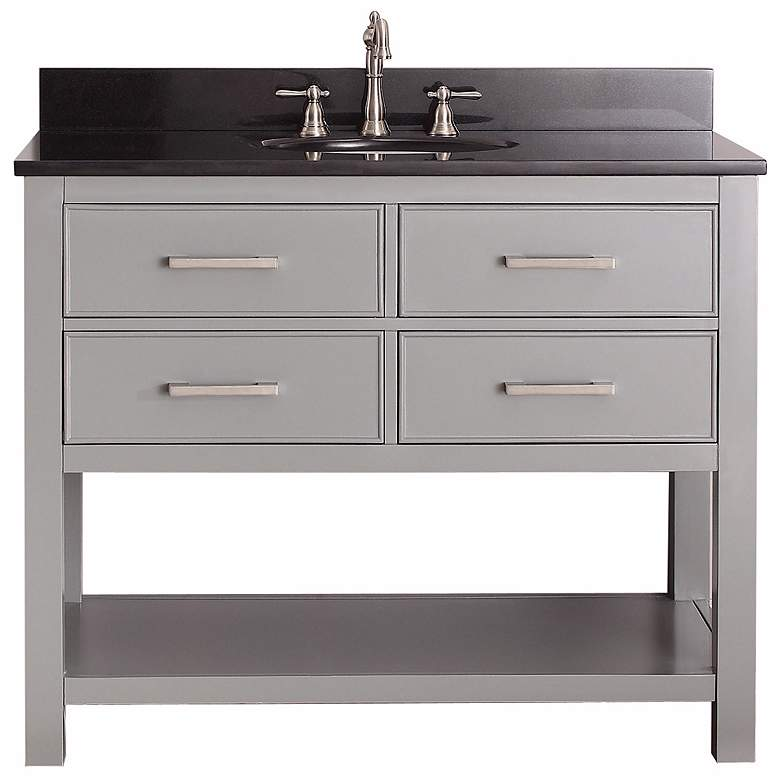 "Avanity Brooks 42"" Black Top Gray Single Sink Vanity more views"