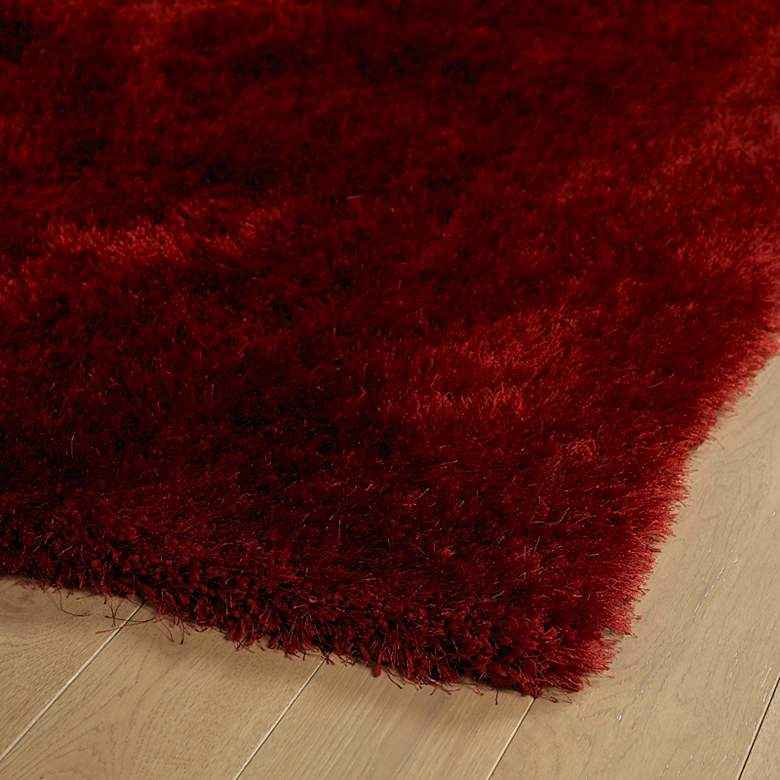 Kaleen Posh PSH01-06 5'x7' Brick Red Shag Area Rug more views
