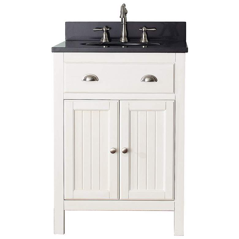 "Avanity Hamilton 24"" Black Top French White Vanity more views"