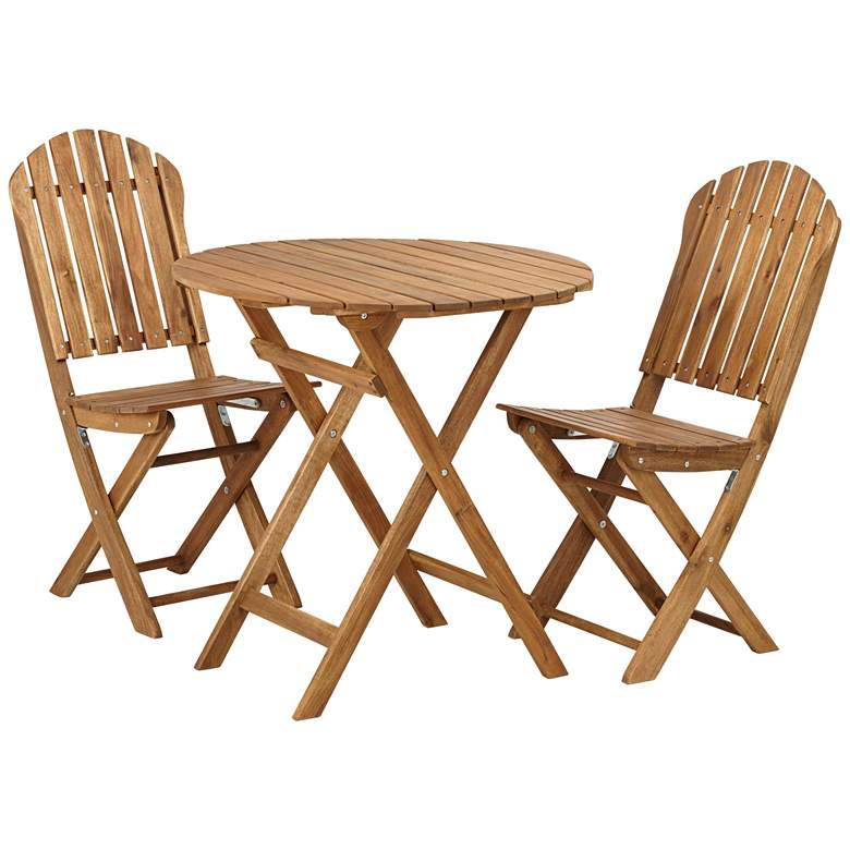 Monterey Natural Acacia Wood 3-Piece Bistro Dining Set more views