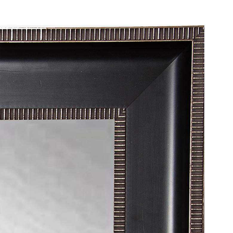 "Willards Black and Silver 29 1/4"" x 35 1/4"" Wall Mirror more views"
