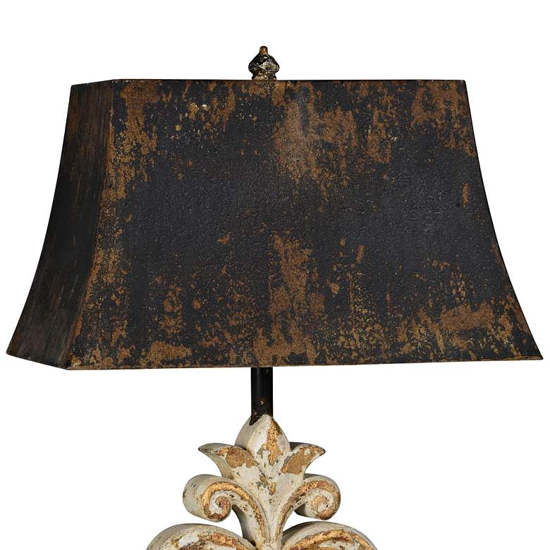 Ivy Distressed White-Wash with Gold Highlights Table Lamp more views