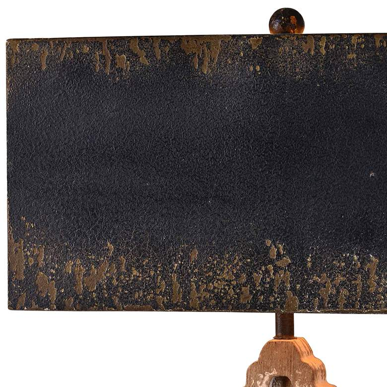 Keaton Weathered Driftwood and Antique Black Table Lamp more views