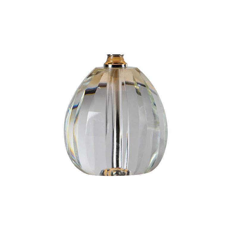 "Forty West Renee 12"" High Clear Crystal Accent Table Lamp more views"