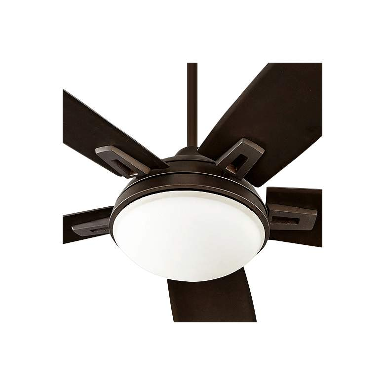 "72"" Quorum Vector Oiled Bronze LED Ceiling Fan more views"