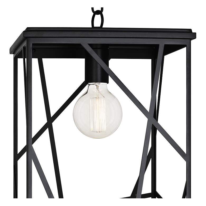 "Michael Berman Bond 20"" High Black Outdoor Hanging Light more views"