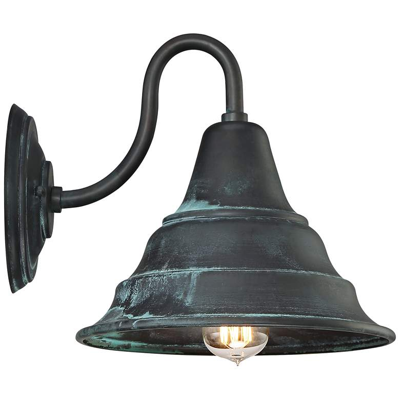 "Quoizel Carmel 11"" High Aged Verde Outdoor Wall Light more views"