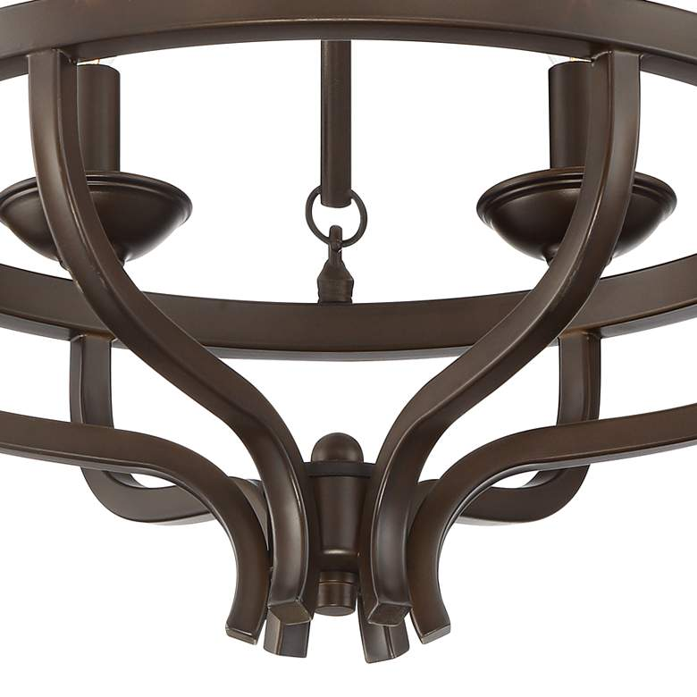 "Adari 17 3/4"" Wide Oil-Rubbed Bronze Ceiling Light more views"