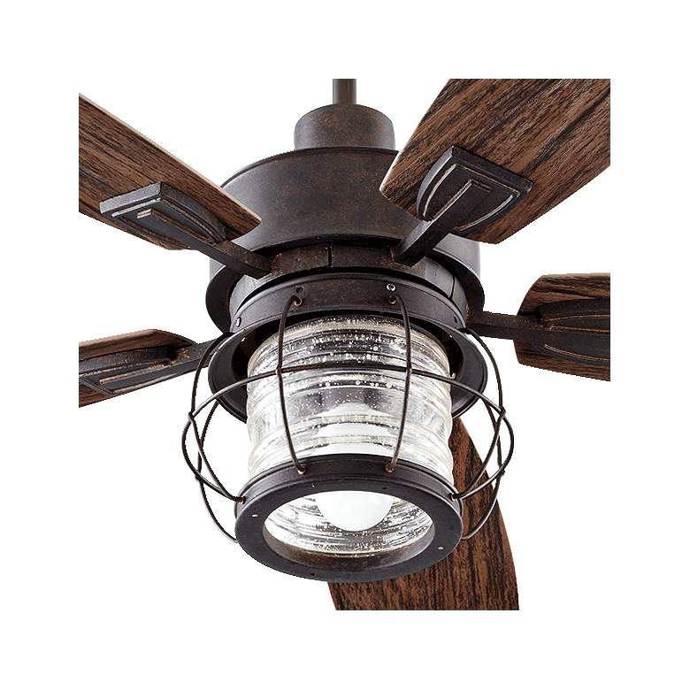 "52"" Quorum Galveston Toasted Sienna Patio Ceiling Fan more views"