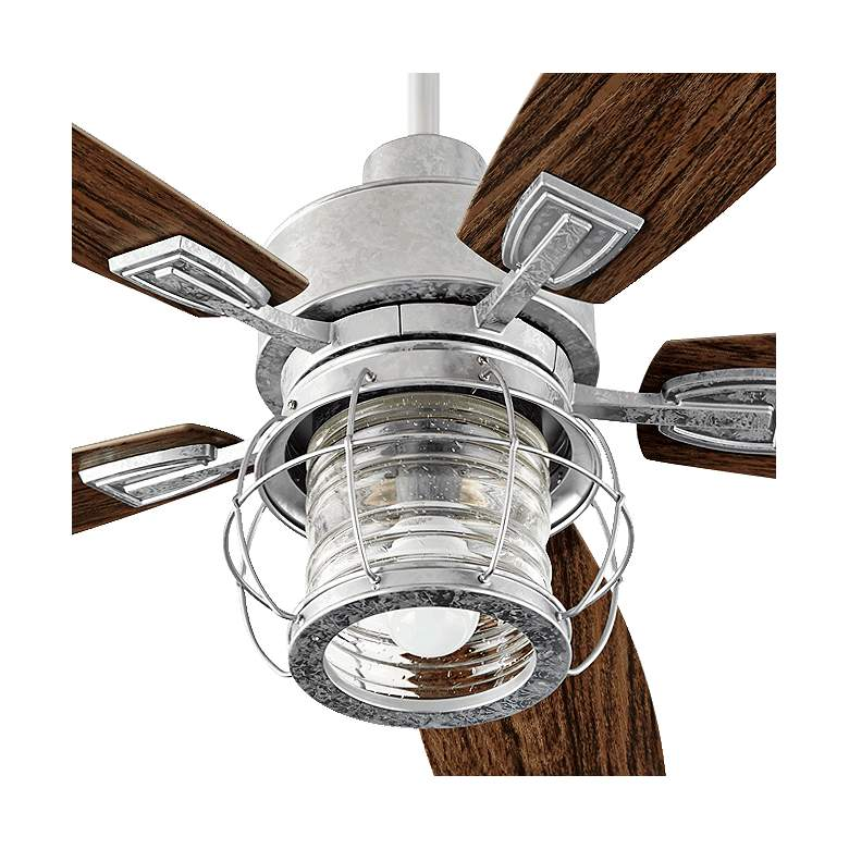 "52"" Quorum Galveston Galvanized Patio Ceiling Fan more views"