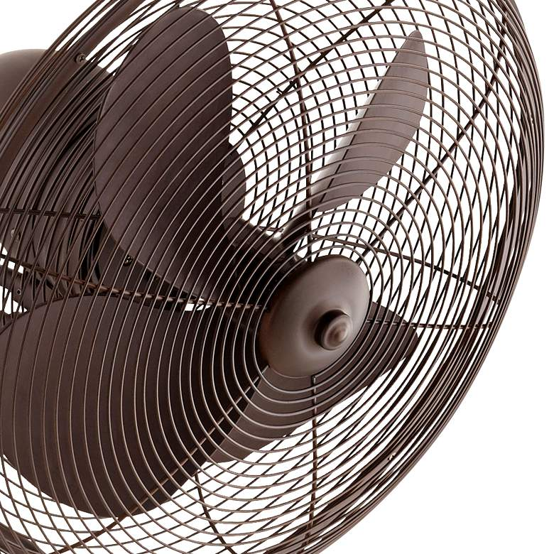 "14"" Quorum Piazza Oiled Bronze Patio Wall Fan more views"