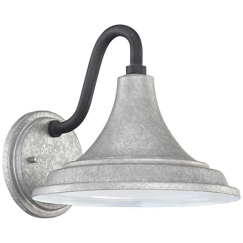 "Quoizel Oceanfront 9 1/2"" High Galvanized Outdoor Wall Light more views"