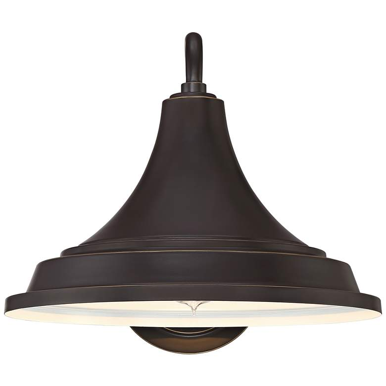 "Quoizel Oceanfront 12""H Palladian Bronze Outdoor Wall Light more views"
