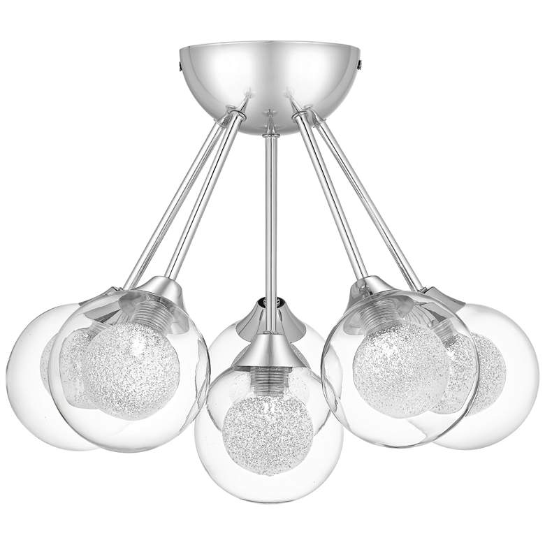 "Platinum Spellbound 16"" Wide Chrome 6-Light Ceiling Light more views"