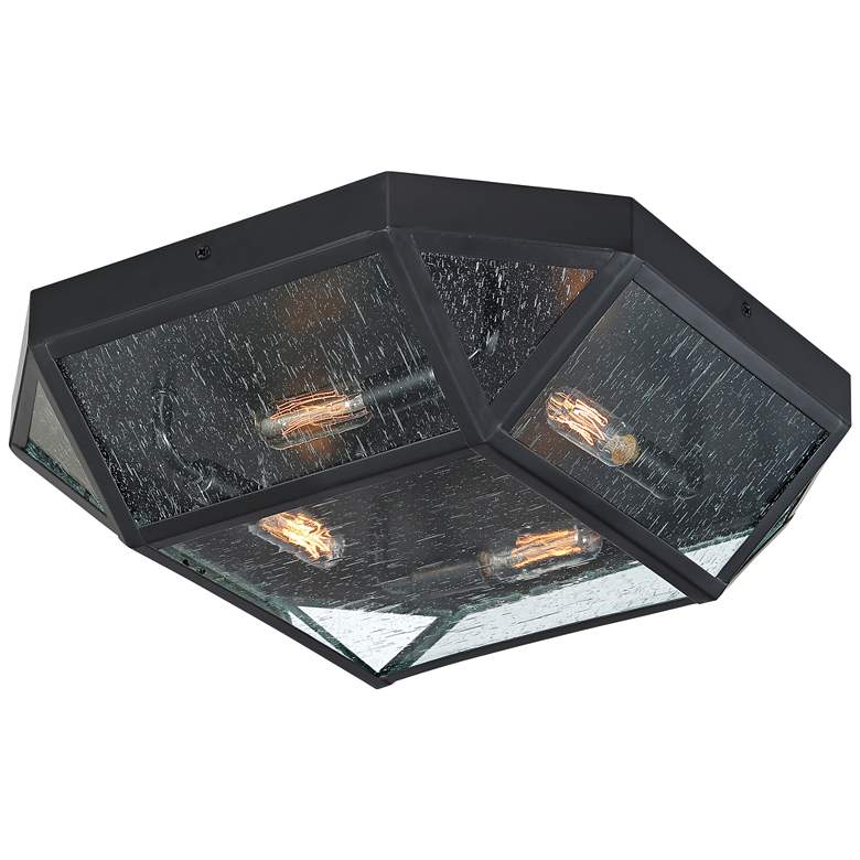 "Quoizel Montrose 17 1/2"" Wide Mystic Black Ceiling Light more views"