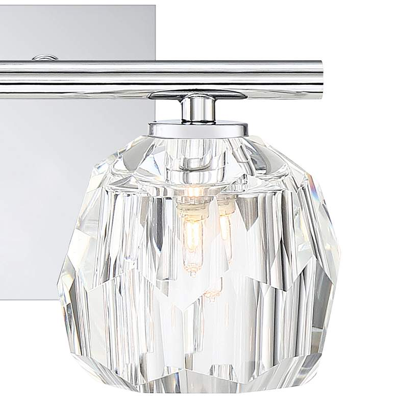 "Quoizel Regalia 6"" High Polished Chrome 2-Light Wall Sconce more views"