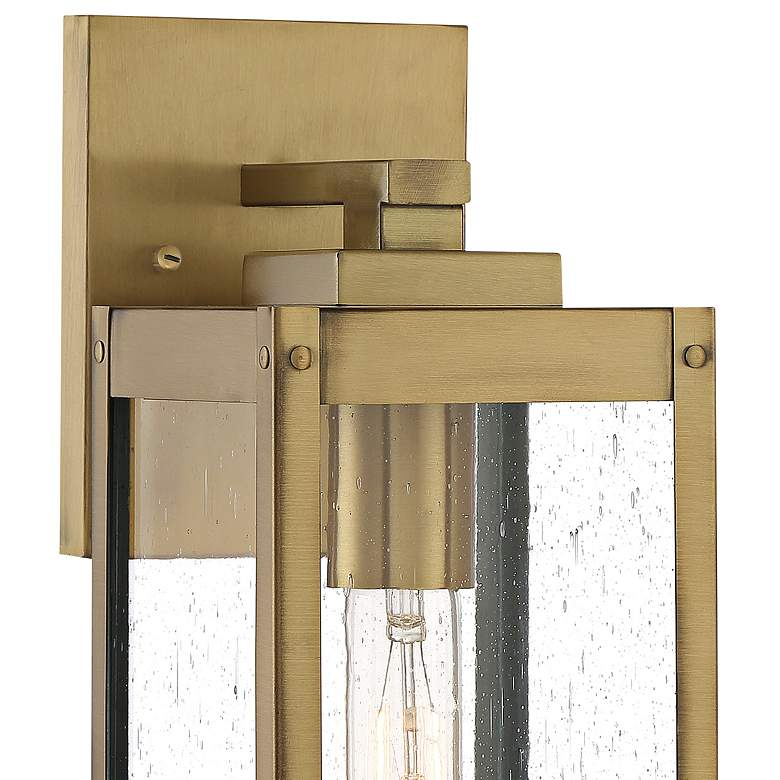 "Quoizel Westover 14 1/4""H Antique Brass Outdoor Wall Light more views"