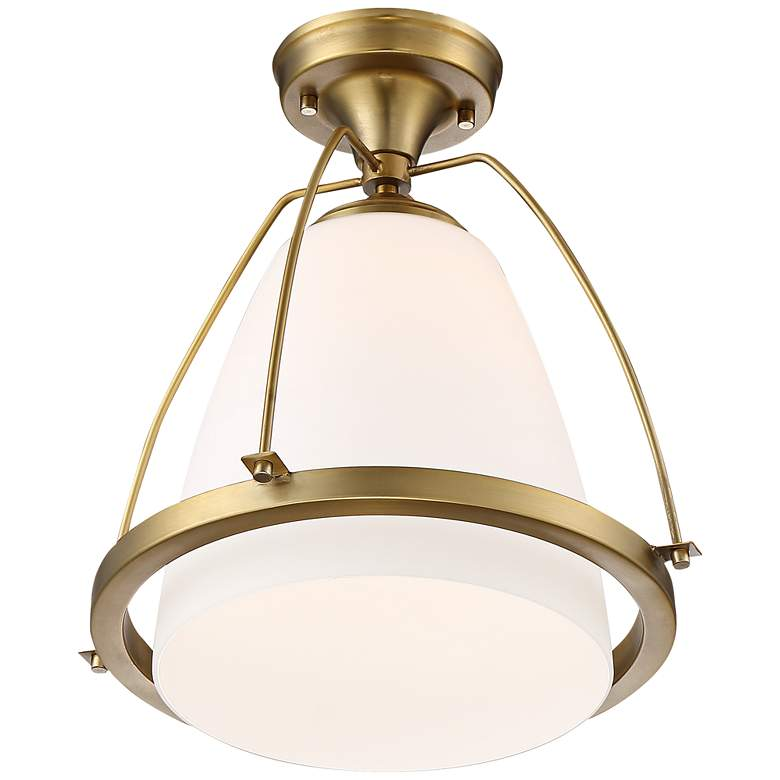 "Possini Euro Orland 14""W Warm Brass Ceiling Light more views"