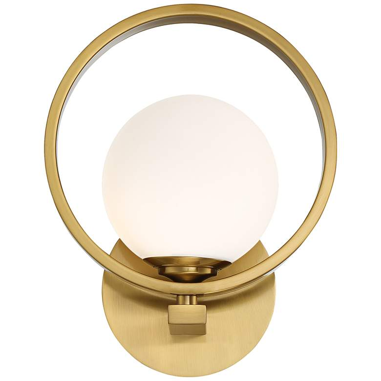 "Possini Euro Bryony 11 1/4""H Brass Globe Wall Sconce more views"