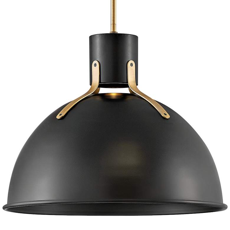 "Hinkley Argo 20""W Satin Black and Brass LED Pendant Light more views"
