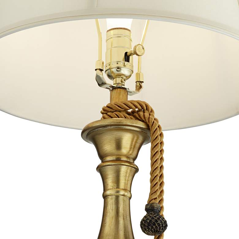 Canterbury Egyptian Gold Candlestick with Tassel Table Lamp more views