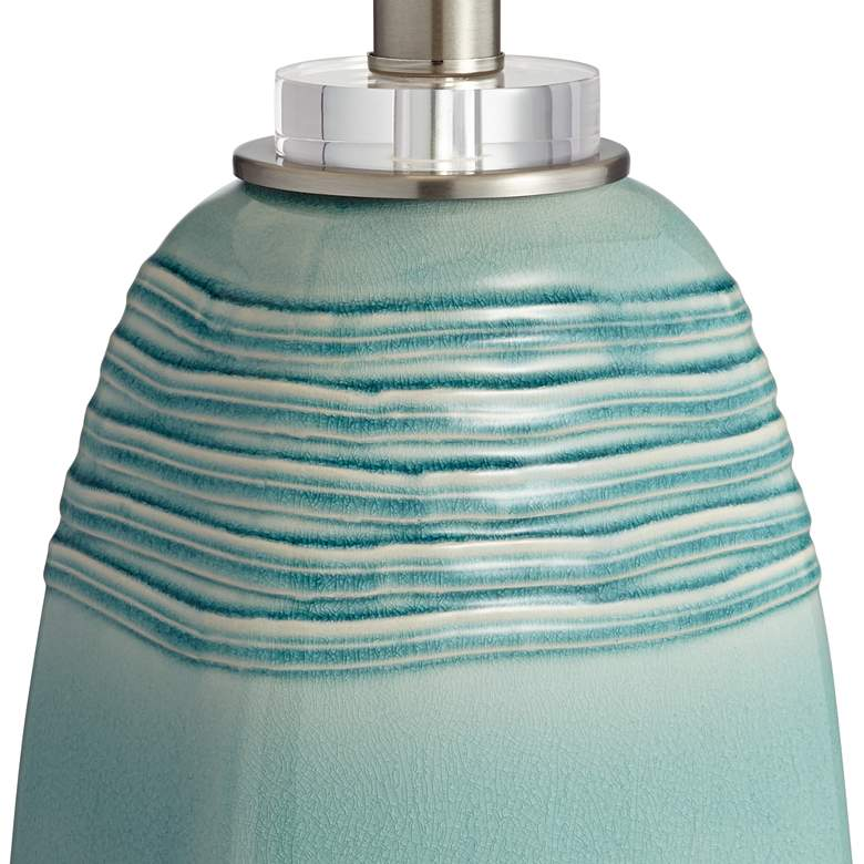 Beaufort Turquoise Wrinkle Ceramic Table Lamp more views