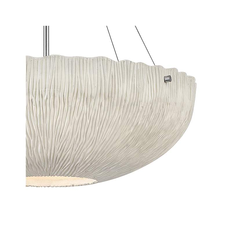 "Hinkley Coral 24 3/4"" Wide Shell White Bowl Pendant Light more views"