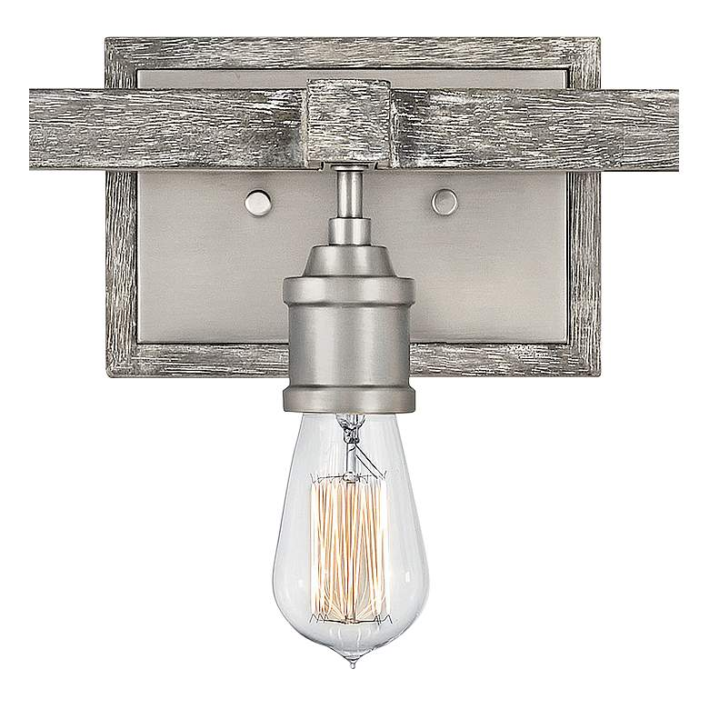 "Hinkley Denton 22"" Wide Pewter 3-Light Bath Light more views"