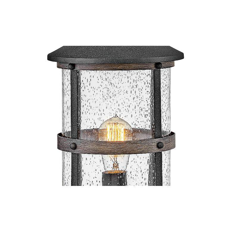"Hinkley Lakehouse 18 3/4"" High Aged Zinc Outdoor Post Light more views"