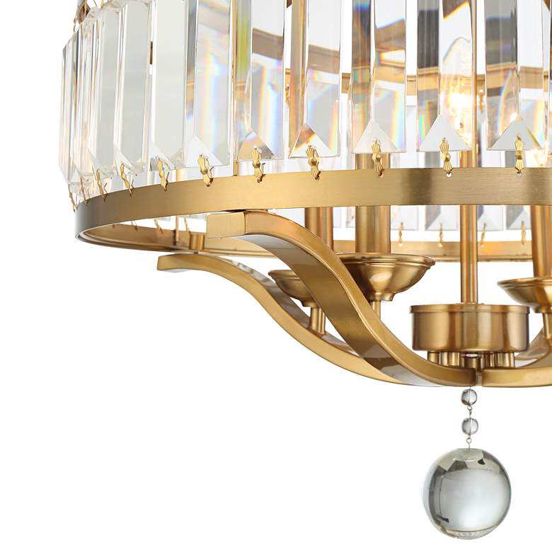 "Possini Euro Prava 21 1/2"" Wide 4-Light Crystal Chandelier more views"