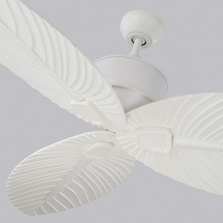 "56"" Monte Carlo Delray Matte White Outdoor Ceiling Fan more views"