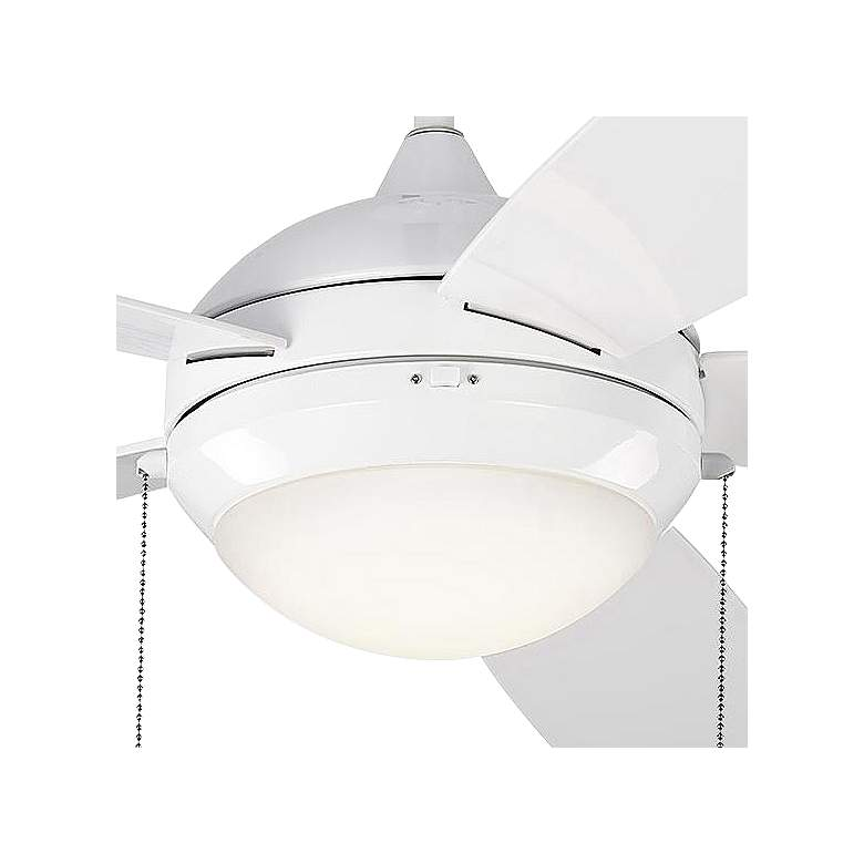 "52"" Monte Carlo Discus White LED Outdoor Ceiling Fan more views"