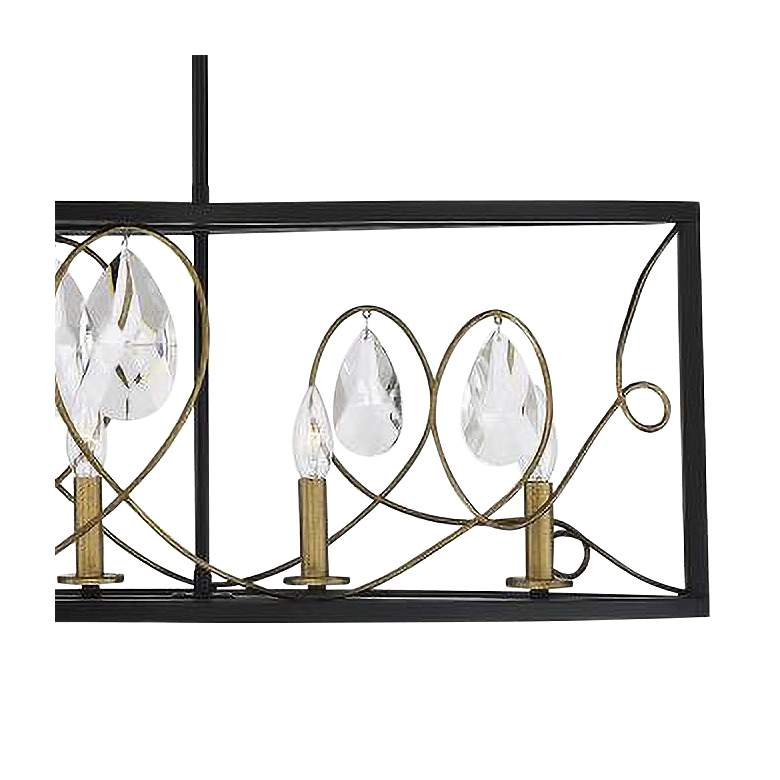 "Suave 38"" Wide Black and Gold 5-Light Island Chandelier more views"