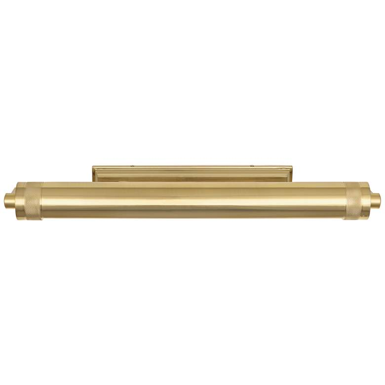 "Wyatt 24 1/2"" Wide Modern Brass Plug-In Picture Light more views"