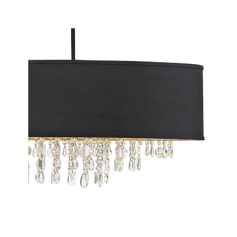"Sparkler 44"" Wide Black Oval Kitchen Island Light Chandelier more views"