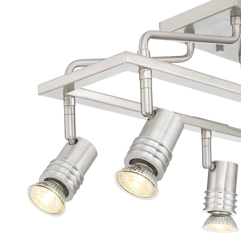 Pro Track Sven 6-Light Brushed Nickel Cage Track Fixture more views
