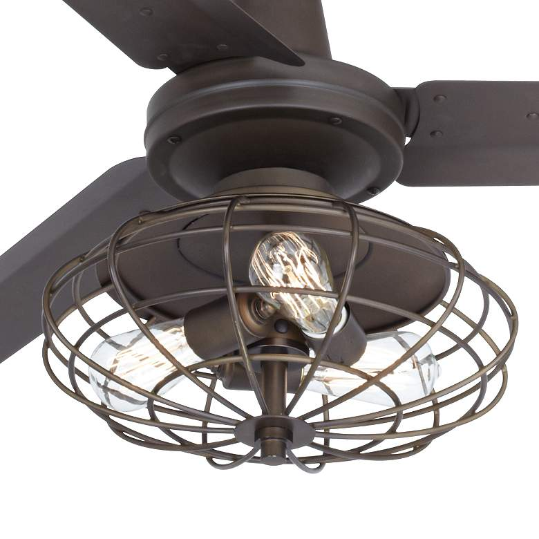 "60"" Casa Vieja Turbina AC Bronze LED Ceiling Fan more views"