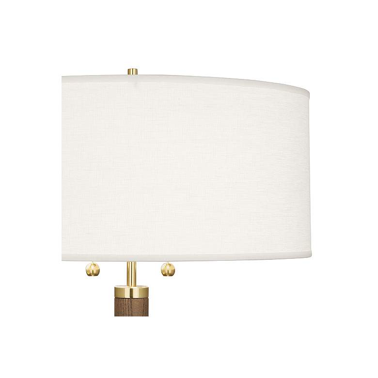 Robert Abbey Dexter Modern Brass and Walnut Table Lamp more views