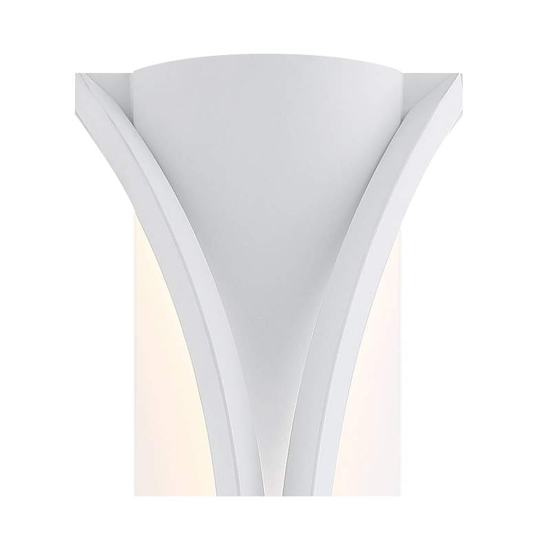 "Roll Up 23"" High Sand White LED Outdoor Wall Sconce more views"