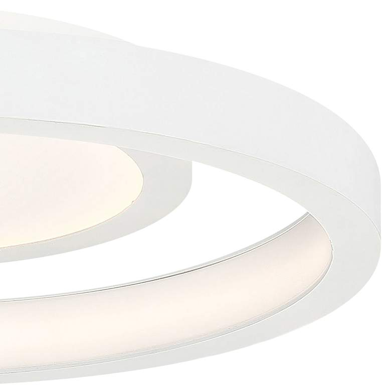 "George Kovacs Knock Out 14"" Wide White LED Ceiling Light more views"