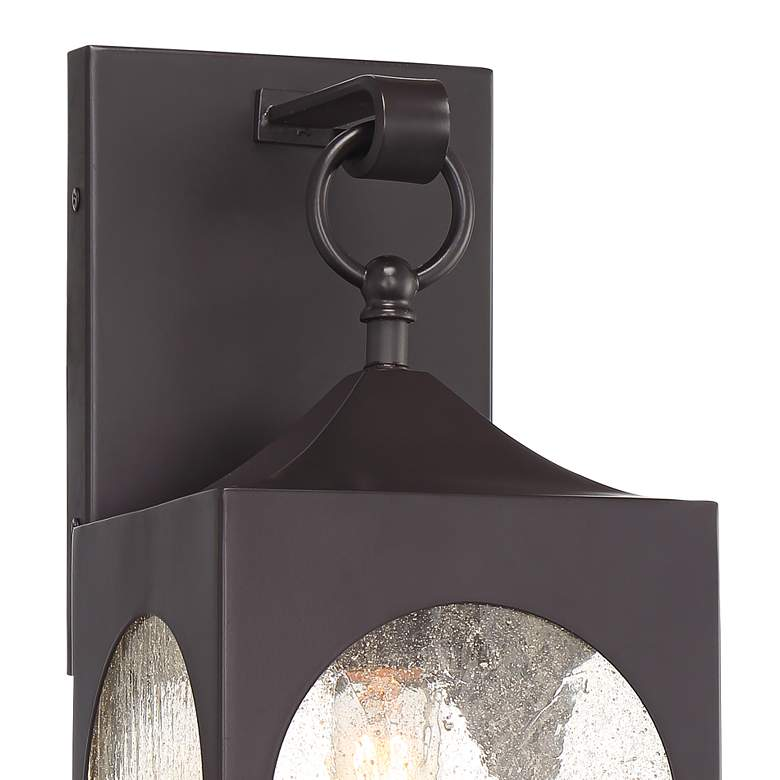 "Possini Euro Tyne 16 1/2""H Bronze Lantern Outdoor Wall Light more views"