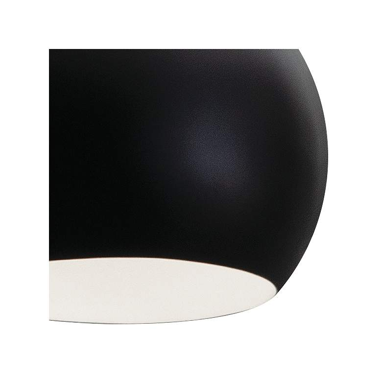 "Roxy 7 3/4"" Wide Black Metal Dome Mini Pendant Light more views"